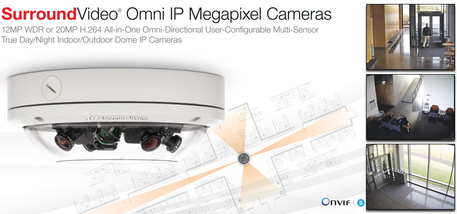 Surround Video Omni IP Megapixel Cameras